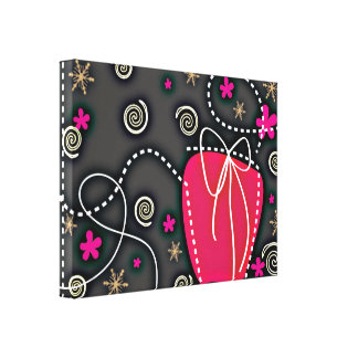 Geschenkboxen ROSA SCHWARZ-WEISSE EMO GIRLY Galerie Faltleinwand