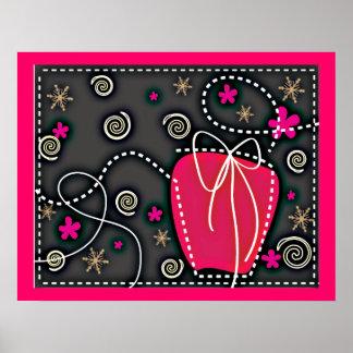 Geschenkboxen ROSA SCHWARZ-WEISSE EMO GIRLY Posterdrucke