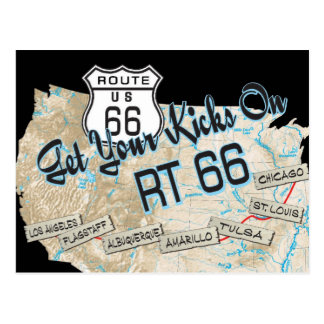 Geschenke des Weges 66 Postkarte
