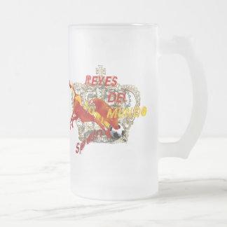 Geschenke Espana Reyes Del Mundo Toro Futbol Mattglas Bierglas