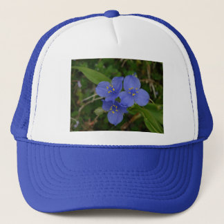 Geschenke Wildblumenblaue Spiderwort-Hot Springs Truckerkappe