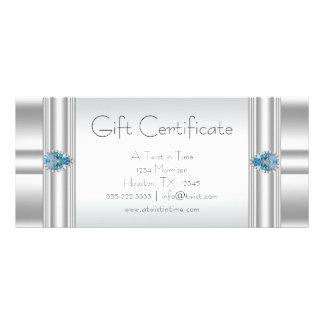 Geschenkgutschein-blaue Werbekarte