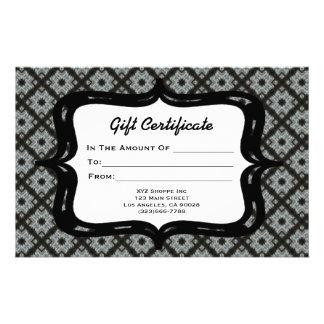 Geschenkgutschein-Grau-Muster Druckpapiere