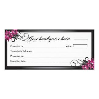 Geschenkgutschein - Salon-Geschenkgutschein Individuelle Werbe Karte