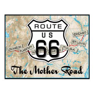 Geschenkpostkarte 2 des Weges 66 Postkarte