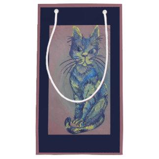 Geschenktasche der blauen Katze Kleine Geschenktüte