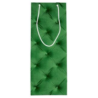 Geschenktasche mit grünem capitone geschenktüte für weinflaschen
