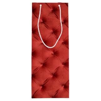 Geschenktasche mit rotem capitone geschenktüte für weinflaschen