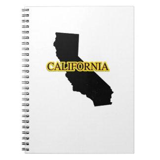Geschenkthrowback-Brandungen Kaliforniens Retro Spiral Notizblock