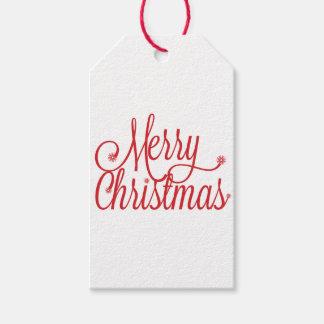 Geschenkumbau der frohen Weihnachten Geschenkanhänger