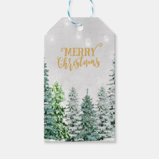 Geschenkumbauten der frohen Weihnachten addieren Geschenkanhänger