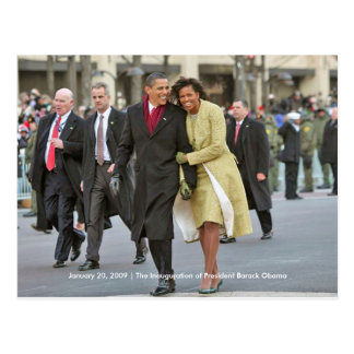 GESCHICHTE: Barack und Einweihung Michelle Obama Postkarte