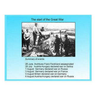 Geschichte, der Anfang des großen Krieges Postkarte
