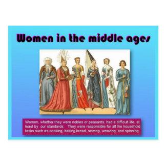 Geschichte, Frauen in den Mittelalter Postkarte