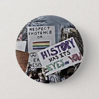 Geschichte hat seine Augen auf Ihnen Runder Button 5,1 Cm