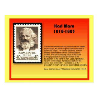 Geschichte, Karl Marx Postkarte