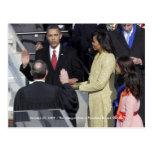 GESCHICHTE: Obama-Familie an der Einweihungs-Zerem Postkarten