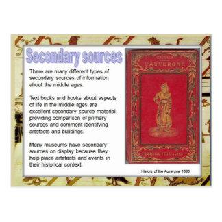 Geschichte, Quellen, unter Verwendung der Postkarte