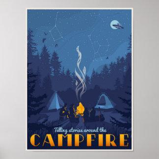 Geschichten durch das Lagerfeuer Poster