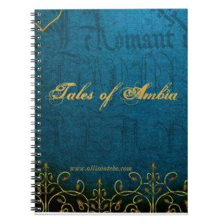 Geschichten von Ambia Notizbuch Spiral Notizblock