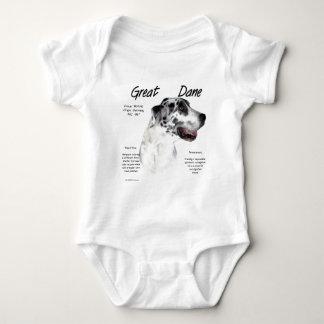 Geschichtsentwurf der Dogge-(Harlekin) Baby Strampler