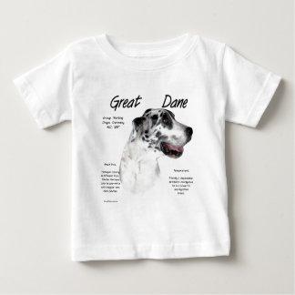 Geschichtsentwurf der Dogge-(Harlekin) Baby T-shirt