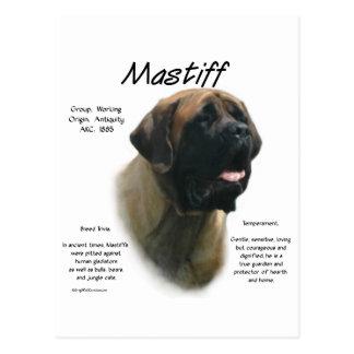 Geschichtsentwurf des Mastiff-(Aprikose) Postkarte
