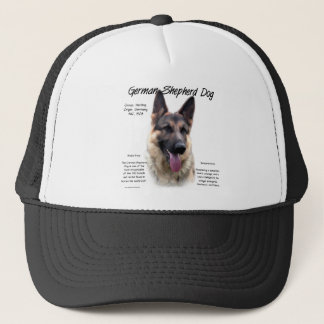 Geschichtsentwurf des Schäferhund-Hund(Zobel) Truckerkappe
