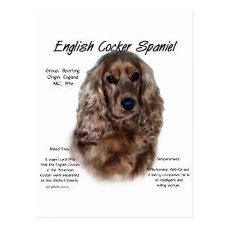 Geschichtsentwurf Englisch-Cocker spaniels (Leber) Postkarte