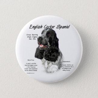 Geschichtsentwurf Englisch-Cocker spaniels (parti) Runder Button 5,7 Cm
