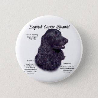 Geschichtsentwurf Englisch-Cocker spaniels Runder Button 5,1 Cm