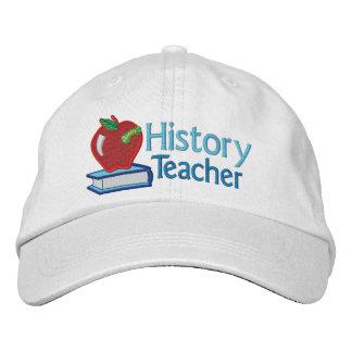 Geschichtslehrer gestickt bestickte kappe