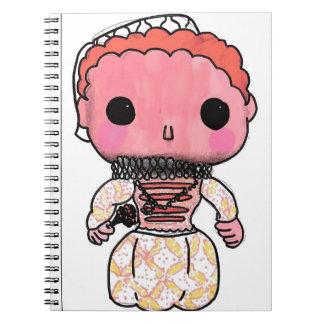 Geschichtsnotizbuch Elizabeth I - Funko Pop-Art Notizblock