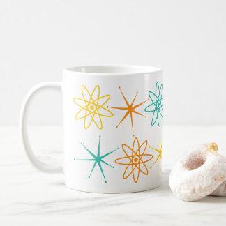 Geschickte Fünfzigerjahre - Atome und Stern-Tasse Kaffeetasse