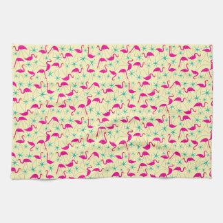 Geschickte Fünfzigerjahre - rosa Flamingo- und Küchentuch