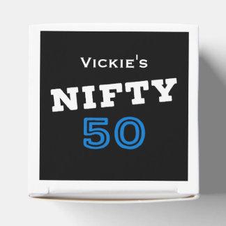 Geschickter Geburtstag 50 Geschenkschachtel