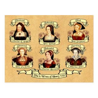 Geschieden, enthauptet, gestorben… Ehefrauen von Postkarte