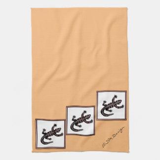 Geschirr-Hand-Tuch, Eidechse Ethno Geschirrtuch