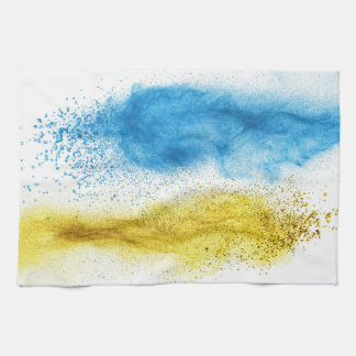 """Geschirrhandtuch """"Blau-Gelb"""" Geschirrtuch"""