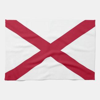 Geschirrtuch mit Flagge von Alabama, USA
