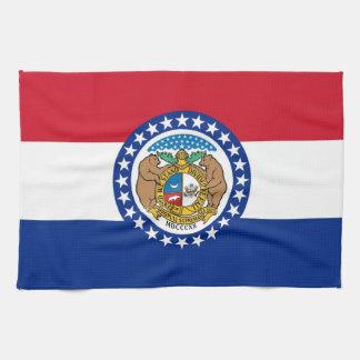 Geschirrtuch mit Flagge von Missouri, USA