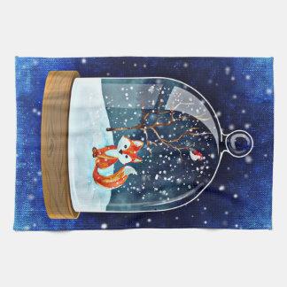 Geschirrtuch-Weihnachtsfuchsblau Geschirrtuch