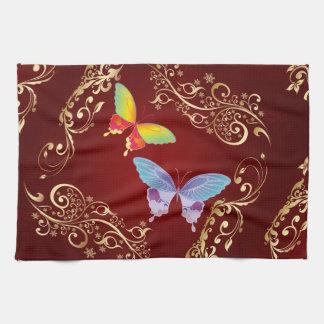 Geschirrtücher der Schmetterlings-Kunst-1
