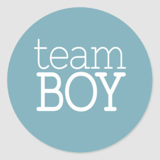 Geschlecht decken Babyparty - Team-blauen Jungen Runder Aufkleber