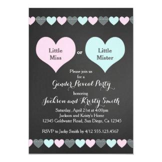 Geschlecht decken Party Einladungs-Herzen auf 12,7 X 17,8 Cm Einladungskarte