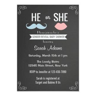 Geschlecht decken Party Einladungs-Tafel auf 12,7 X 17,8 Cm Einladungskarte