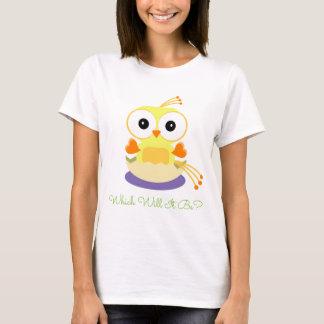 Geschlecht decken Party - gelbes Vogel-Brutei auf T-Shirt