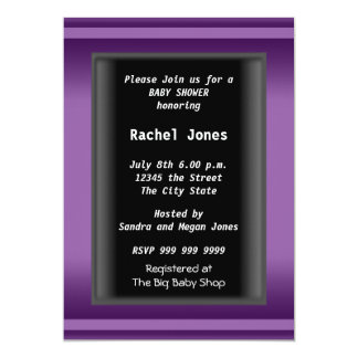 Geschlecht decken schwarzes Baby-Duschen-Party auf 12,7 X 17,8 Cm Einladungskarte