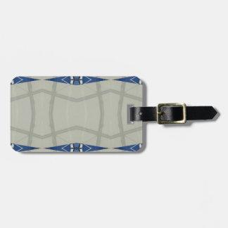 Geschlecht Nuetral blaues hellgraues Muster Gepäckanhänger