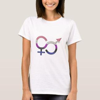 Geschlechts-Flüssigkeits-Symbol T-Shirt